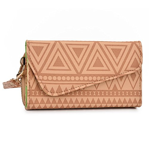 Kroo Pochette/étui pour téléphone Urban Style Tribal pour Blackberry Passport White and Orange Brun