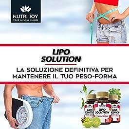 120 Compresse   Fat burner LIPO SOLUTION   Termogenico Naturale   MADE IN ITALY   Pillole Dimagranti Brucia Grassi Potenti Veloci   Dimagrante Forte e Brucia Grassi Addominali   100% Vegano