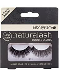 Salon System Naturalash Quick and Easy Re-Usable Black 202 Double Lashes