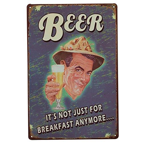WINOMO Weinlese-Eisen-Malerei-dekorative Zeichen Zinn-Metallauto-Wand-Dekor für Wand-Hauptstab-Kaffee-Geschäfts-Dekoration (Bier) (Eisen-kaffee Dekor)