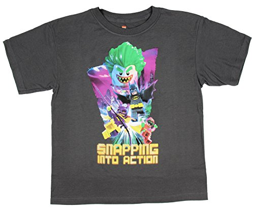 DC Comics Big Boys Lego Batman Movie Snapping Into Action Graphic T-Shirt