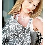URAQT Enfermería cubierta 100% algodón - tapa de la lactancia materna - Capa de lactancia - delantal enfermería - Sombra para cochecito - Capa de lactancia con hebilla Negro Mantas