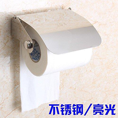 USDFJN Toilettenpapierhalter Wandhalter für Badzimmer WC PapierhalterWand - mit Abdeckung aus Edelstahl Licht/Edelstahl Continental montiert