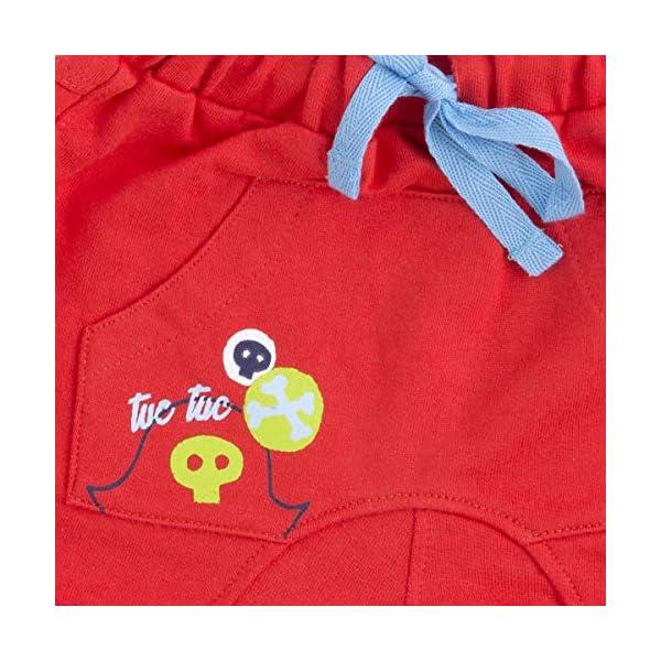 Tuc Tuc Bermuda Felpa Roja Niño Pirates Pantalones para Bebés 3