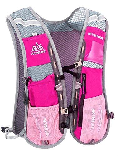 5L-Weste Rucksack blufied Licht Gewicht Trinkblase Tasche mit Reflektierende Streifen für Unisex Frauen Herren Laufen Ski Wandern Fahrrad rose