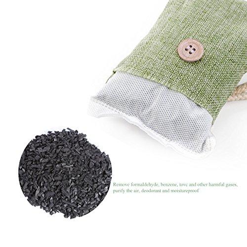 NUOLUX Air naturel purifiant refraîchissant d'Air sac à charbon de bambou (4packs * 100g) Liste de prix