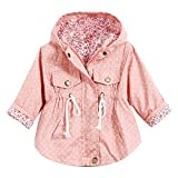 Baby Girls Hoodie Windbreaker Jacket Princess Trench Coat Outwear Pink 1-2 Years
