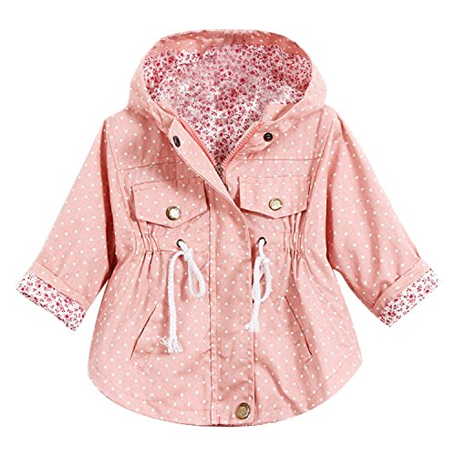 Baby Girls Hoodie Windbreaker Jacket Princess Trench Coat Outwear