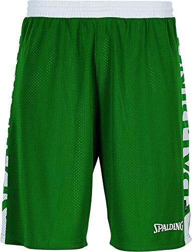 Spalding Herren Essential Reversible Shorts Hose, grün/Weiß, M