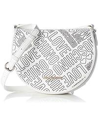 Love Moschino - Borsa Embossed Pu Bianco, Shoppers y bolsos de hombro Mujer, Weiß (White), 18x23x8 cm (W x H D)