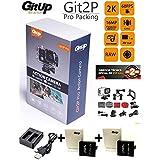 """GITUP GIT2P PRO edition (Nuevo modelo 2017) + cargador doble + 2 BATERIAS EXTRA (aparte de la que incluye la cámara). Sensor Panasonic 2160P 24fps 1080p 60fps, WIFI, FOV 170º,120º, Panasonic MN34120PA 16MP, estabilizador imagen, Bateria 1000mha , sumergible 30M. ChipsetNovatek NTK96660, LCD 1.5"""". ANDROGEEK es distribuidor autorizado GITUP ESPAÑA con 2 años de garantia oficial GITUP con SAT en España. Posibilidad entrega 24 horas."""