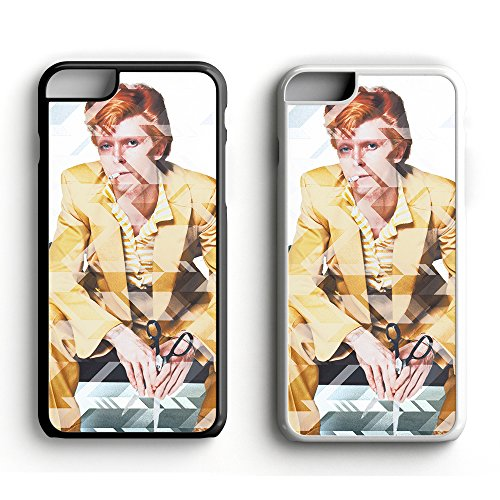 David Bowie possiamo essere Hereos Ziggy Stardust Lightning Strike iPhone 6/6S e 6 Plus, Ceramica, Black, iPhone 6 / 6S Black