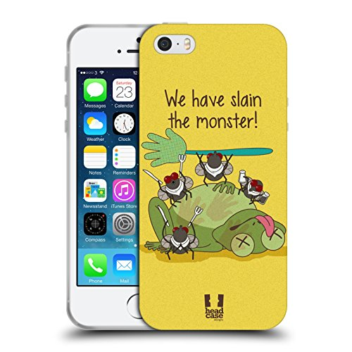 Head Case Designs Snitch Oscar E Howard Nero E Bianco Cover Morbida In Gel Per Apple iPhone 6 Plus / 6s Plus Slain Monster