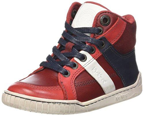 KickersWincut - Scarpe da Ginnastica Basse Bambino Rouge (Rouge/Blanc)