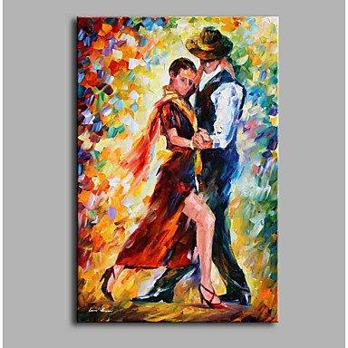 24 Zeitgenössische Leinwand (HY&GG 24:00 Tango 100% Handgemalt Zeitgenössische Ölgemälde Moderne Kunstwerke An Der Wand Kunst Für Dekoration Größe 90 Cm X 60 Cm)