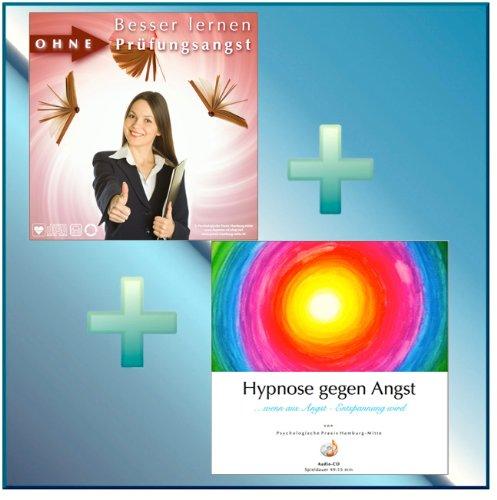 BESSER LERNEN OHNE PRÜFUNGSANGST + HYPNOSE GEGEN ANGST (Hypnose-Audio-CDs) --> doppelte Kraft gegen Angst und Prüfungsangst!