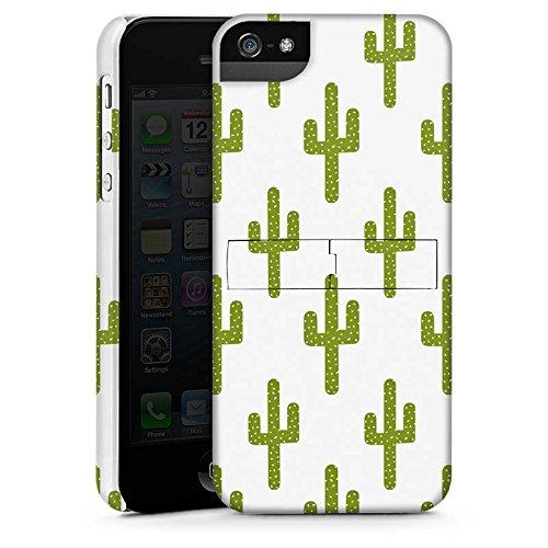 Apple iPhone X Silikon Hülle Case Schutzhülle Kaktus Muster Grün Premium Case StandUp