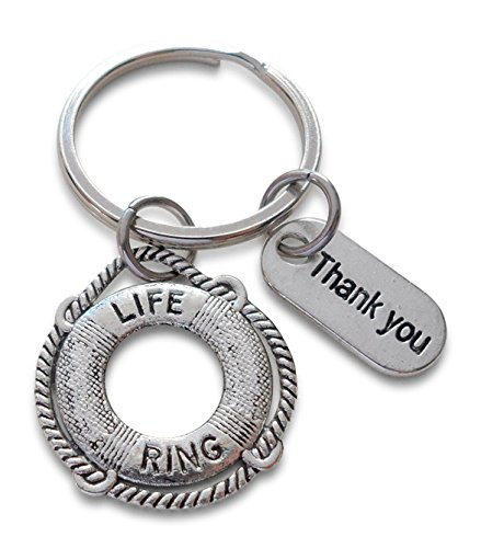 Lebensretter-Schlüsselanhänger & Danke Tag, Anerkennung Geschenk, You've been a lifesaver Sie waren ein Lebensretter