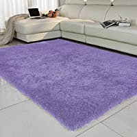 Bath Time Flagship Store LUYIASI- Teppich Schlafzimmer Sofa Couchtisch Bettwäsche Bettwäsche Teppich Non-Slip Mat (Farbe : Lila, größe : 80x160cm)