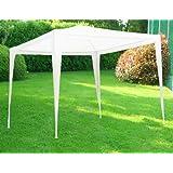 Gazebo tenda in metallo metri 3x3 telo impermeabile per campeggio fiera terrazzo pic nic