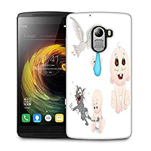 Snoogg cute baby vectors Designer Protective Back Case Cover For Lenovo K4 Note