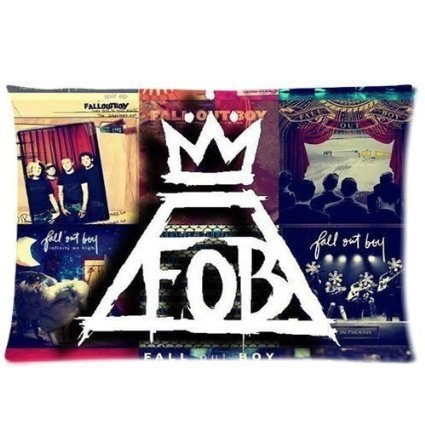 Chicago Rock Band Fall Out Boy Handwriting Custom Cotton & Polyester Soft Rectangle Pillow case/Taies d'oreillers Cover 20X30 (Two Sides)