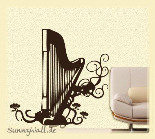 adesivo-da-parete-arpa-strumento-harp-fiori-arpa-grosse-3