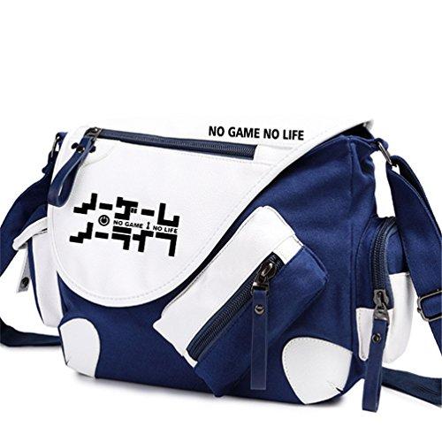 Yoyoshome giapponese anime Cosplay zaino Zaino messenger bag borsa a tracolla nero Fullmetal Alchemist No Game No Life2