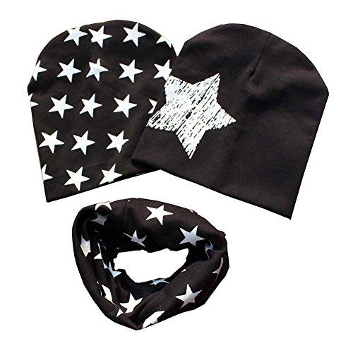 patgoal Baby berretto o-ring sciarpa ragazze bambini bambino sciarpa cappelli cappelli A4 Taglia unica