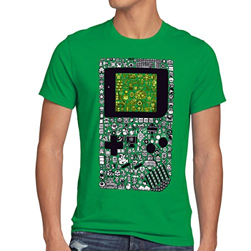 style3 8-Bit Game Camiseta para hombre T-Shirt pixel boy, talla:L;Colo