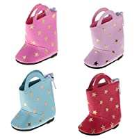 MagiDeal 4 Pairs Cute Star Printed Boots For 14