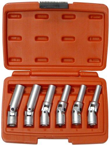 Preisvergleich Produktbild Famex 14870 Spezial-Gelenkschlüssel für Glühkerzen,  6-teilig,  8-16 mm