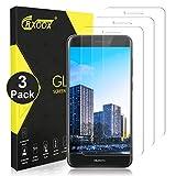 CRXOOX 3 Pack Protector de Pantalla para Huawei P8 Lite Cristal Templado 9H Sin Burbuja Ultra-Delgada Anti-Rayado Anti-Huella Digital Película de Vidrio para Huawei P8 Lite Transparente