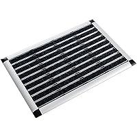 casa pura® Aluminium - Fußabstreifer für außen und innen   Fußmatte mit hoher Reinigungswirkung & attraktiver Metall Optik   Fußmatten für die Haustür   2 Größen (49x80cm)