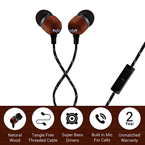 House of Marley Smile Jamaica in-Ear Headphones with Mic