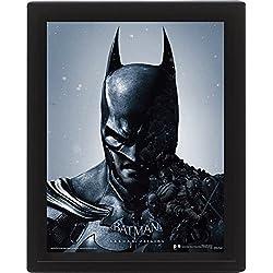 Batman Arkham Origins 10 x 20,32 cm de Batman con Marco con Tapa 3D Póster