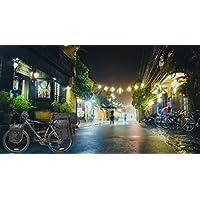 CROSSO® EXPERT 40/60 Borse Bici | 40 o 60 litri 2 Borse - 2 Borse piccole laterali | Cordura | Strisce riflettenti | Impermeabile, Crosso Farbe:01. Black / 60L