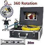 DBSCD DBSCD 9-Zoll-LCD-Farbdisplay Endoskop Rohrinspektion Videokamera Drain-Kanal-Pipeline Industrie-Endoskop Wasserdicht IP68 38 LEDs 360 Grad, 30M