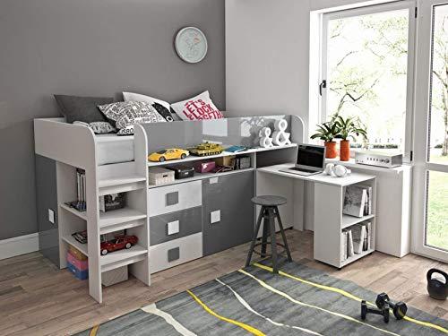 Etagenbett Mit Schrank Und Schreibtisch : ᑕ❶ᑐ hochbett mit schrank ▻ bestseller für ihr schlafparadies