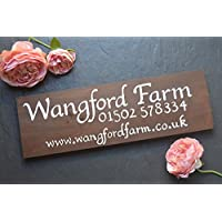 Wooden Rustic Exterior Business Name Sign | Farm | Advertising | Swinging | Hanging | Wall | Outside | Personalised