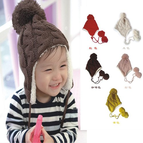 19% OFF on Generic Red   Baby Hat Children Knitted Hats Winter Keep Warm  Crochet Cap Girls Boys Beanie Baby Hats For Girls Thicken Warm Newborn Hat  on ... 56e2e277abbf