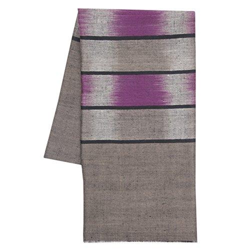 KASHFAB Cachemire Femmes Mode Hommes Ikat Weave Echarpe, Echarpe Cachemire, Soft Long Châle, Warm Pashmina fait main Magenta