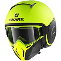 de5b6834 Shark Open-Face Helmet Drak Street Size Black Neon Yellow, Size L