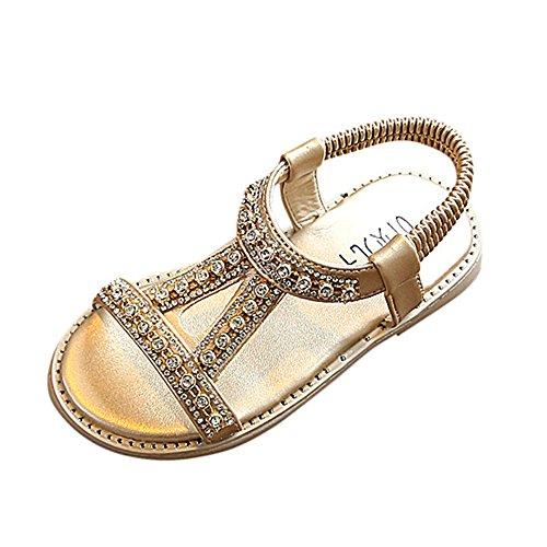 e Strass Sandalen römischen Strand Schuhe Perle Kristallprinzessin Schuhe Mädchen Sandalen Kristall Prinzessin Sommer Schuhe Baby Blumenmädchen Sandalen Kleinkind ()