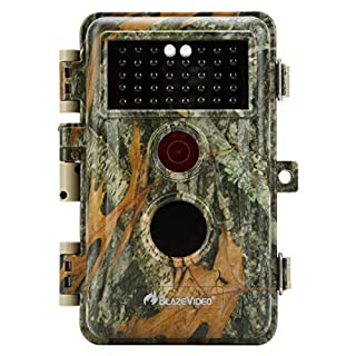 BlazeVideo 16MP Photo 1080P Video Wildlife Camera, Waterproof Trail Hunting Cam, PIR Motion Sensor, Password Protected, 38pcs No Glow IR LED Infrared Support Night Vision up to 65ft, 2.4