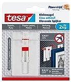 tesa Verstellbarer Klebenagel für Tapeten und Putz / Selbstklebender Nagel von tesa Powerstrips / 2 x 2 kg Halteleistung