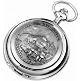 Woodford The Flying Scotsman Train Chrome Mechanical Double Hunter Pocket Watch
