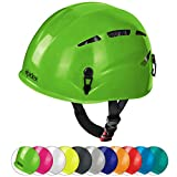 ALPIDEX Casco universale per arrampicata e alpinismo ARGALI via ferrata in molti colori diversi moderni, Colore:apple green
