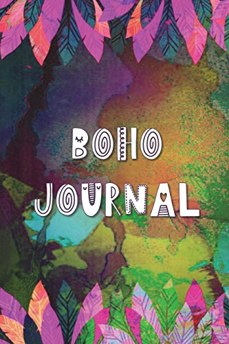 Boho Journal: 140 Lined Pages Softcover Notes Diary, Creative Writing, Class Notes, Composition Notebook - Bright Pink Watercolor Feathers por Simple Planners and Journals