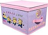 MINIONS Aufbewahrungsbox Spielzeugbox Box Faltbox Truhe Kiste 30x40x25 Rosa